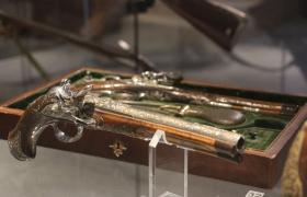 Дуэльные пистолеты в Тульском музее оружия