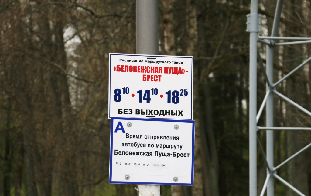 Расписание Беловежская пуща - Брест